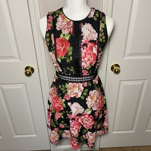 Disney princess floral dress a-line size XS